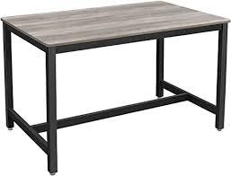 vasagle küchentisch esstisch 120 x 75 x 75 cm esszimmertisch für 4 personen kaffeetisch wohnzimmer esszimmer stahlgestell einfacher aufbau