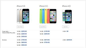 Here s the iPhone 5s 2 year contract pricing in Canada