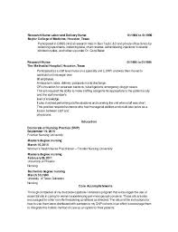 Nursing Resume Examples Labor And Delivery Also Sample Cover Letter Example G S Security To Produce Awesome