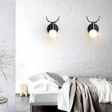 kreativ wandleuchte moderne wandle einfach kerze wandleuchte eisen e27 base hirschkopf nordischen stil deco für schlafzimmer wohnzimmer