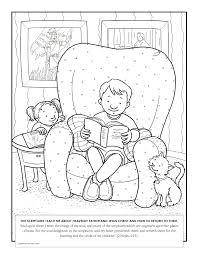 Boy Reading Book Of Mormon