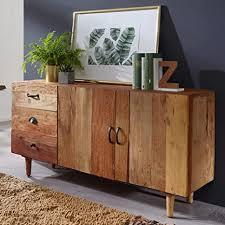 wohnling sideboard nima 138x40x68 cm massivholz vintage