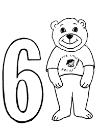 Click To See Printable Version Of Number 6 Coloring Page