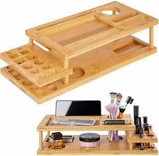 details zu onvaya organizer kosmetik schminke bambus badezimmer schreibtisch