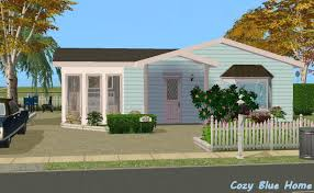 100 Small Cozy Homes Mod The Sims Blue Home