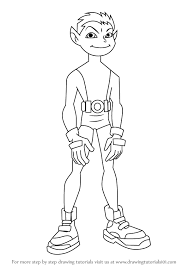 Holiday Coloring Pages Teen Titans Go Learn How To Draw Beast Boy From