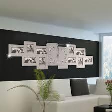 dekorationsmaterial wanduhr 10 bilderrahmen foto deko 80 cm