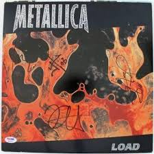 Metallica 4 Hetfield Ulrich Hammett Newsted Signed Album Cover Psa Q02593