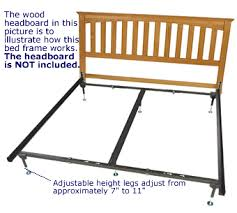 bed frame with hooks for headboard and footboard beautiful on king