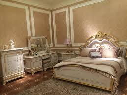klassische möbel schlafzimmer set bett nachttisch kommode spiegel hocker 7tlg