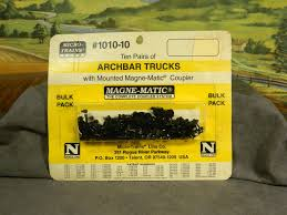 N SCALE MTL Micro-Trains Line #1010-10 Bulk Pack ARCHBAR TRUCKS W ...