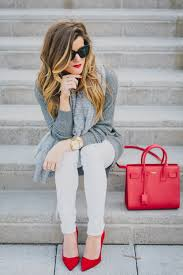 tunic sweater winter white jeans pops of red