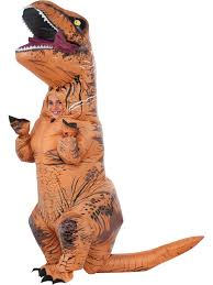 Large Blow Up Halloween Decorations by Boy U0027s Jurassic Park 2 Deluxe Inflatable T Rex Costume Treat Bag