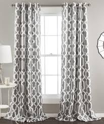 Navy Geometric Pattern Curtains by Amazon Com Lush Decor Edward Trellis Room Darkening Window