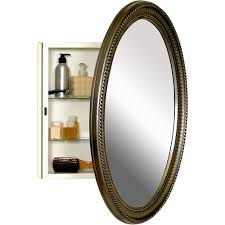 amazon com oval medicine cabinet poly frame antique style pewter