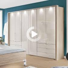 wiemann wardrobe loft 300 x 216 cm magnolia glass