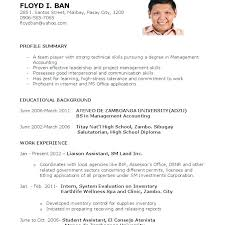 Resume Accounting Graduate Sample Fresh Student Download For Job Application
