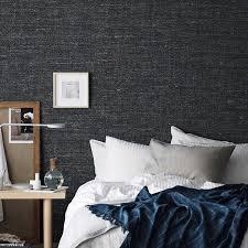 navy blau grün grau flachs textur plain tapete moderne