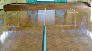 wood floor restoration at carterhatch junior school enfield