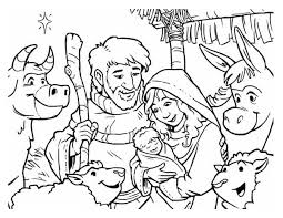 Depiction Of Nativity Coloring Page