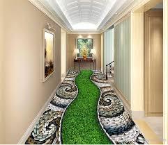 großhandel benutzerdefinierte 3d wand boden tapete kopfsteinpflaster grünes gras wasserdicht für badezimmer 3d boden wandaufkleber vinyl küche tapeten