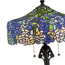 Quoizel Tiffany Lamp Shades by Cobalt Blue Wisteria Tiffany Lamp