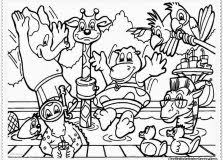 Zoo Animals Free Printable Coloring Pages