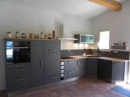 cuisine grise plan de travail bois realisation 15 moble