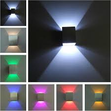 modern 3w warm cold white led wall ls square up wall