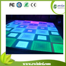 china 50 50cm color led stage flooring tiles with tempered glass