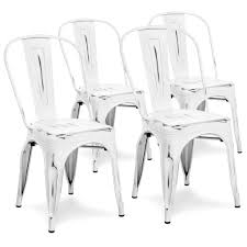 Set Of 4 Industrial Metal Dining Chairs Distressed White ... Designer Green Ding Chair On Black Metal Legs Modern Soft Us 4896 28 Offfashion Classic Stainless Steelleather Chairsliving Room Chairblack White Metal Leather Fniturein Ding Giantex Set Of 4 Chairs Pvc Iron Frame High Back Home Fniture White New Hw59220 Callisto And Steel Cantilever Chair Distressed Antique 2 Angelina Wood Lexi Pair Gold Linen Fabric Tolix Style Industrial Room Y120 White Ding Chair Chrome Metal Base By Grako Selections Buschman Matte Inoutdoor Stackable Tig In 2019 Giselle