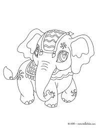 Kawaii Elephant Coloring Page