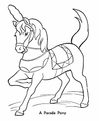 Circus Parade Pony Coloring Pages