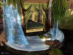 Waterfalls In A Jungle Room For Caroline