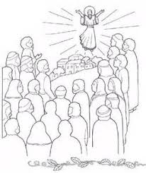Ascension Of Jesus Coloring Pages