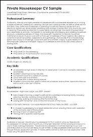 Sample Housekeeping Resume Executive