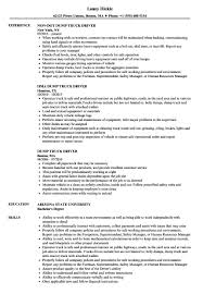 Truck Driver Resume Sample For Crayola Dump