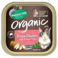 organic cat food buy natures gift organic cat food with fish 85g at