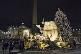 Ceremony Thursday The Vatican Officially Unveiled This Years Nativity Scene In St Peters Square Also Lighting 69 Foot Christmas Tree For