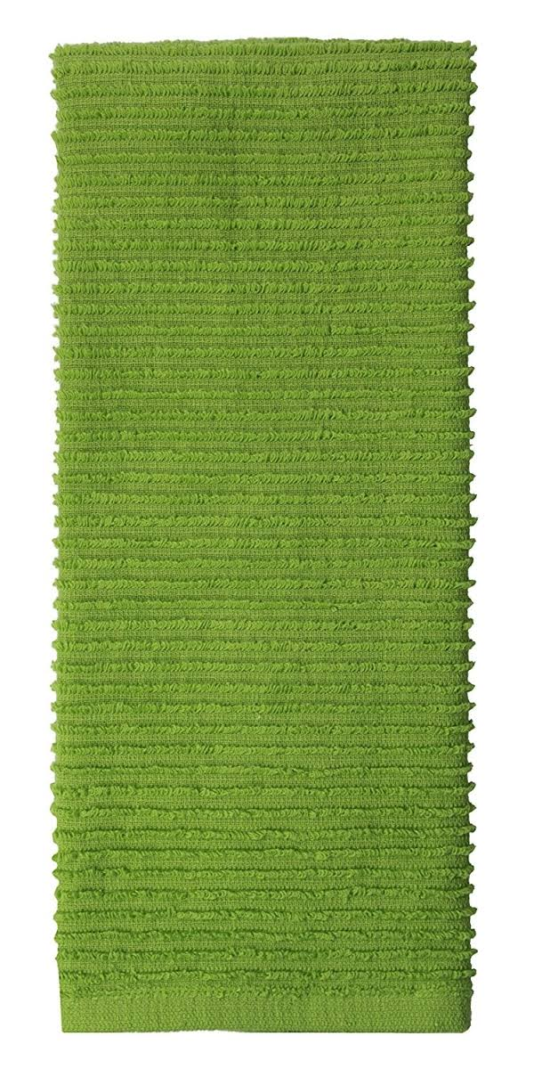 Mukitchen 100% Cotton Ridged Dishtowel, Cactus - 18 x 28 Inches