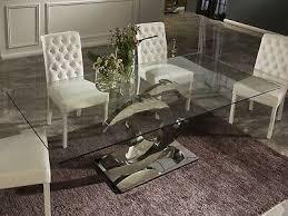 esstisch tisch designertisch glasplatte calima luxus