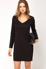 V Neck Basic Dress
