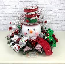 Raz Christmas Decorations Australia by Light Up Snowman Centerpiece Christmas Centerpiece Red Top