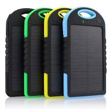 mAh Portable Shockproof Waterproof Solar Charger Power Bank