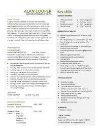 Administration CV Template Free Administrative CVs Administrator Job Description Office Clerical