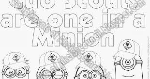 Akelas Council Cub Scout Leader Training Minions PRINTABLE Coloring Page From Despicable Me