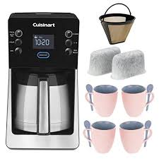 Coffeemaker Bundle With 2 Pack Of Cuisinart Replacement Water Filters GTF Gold Tone Filter Four Mad Stylz 16 Oz Stoneware Baby Blue