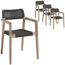 Dark Grey Parisa Rope Outdoor Dining Chairs (Set Of 4) Comfortcare 5piece Metal Outdoor Ding Set With 52 Round Table T81 Chair Provence Hampton Bay Mix And Match Stack Patio 49 Amazoncom Christopher Knight Home Lala Grey 7 Chairs Of 4 Tivoli Tub Black Merilyn Rope Steel Indoor Beige Washington Coal Click Pc Stainless Steel Teak Modern Rialto Rectangle 6