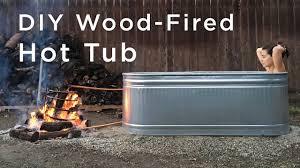 Galvanized Stock Tank Bathtub by Diy Wood Fired Tub Youtube