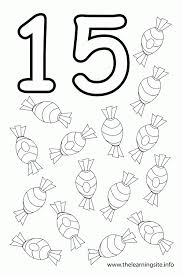 Number 15 Coloring Page